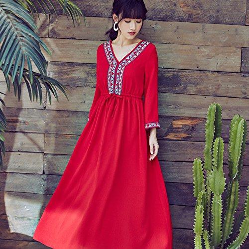 Rojo GAOLIM Vestido Playa Vestido Vestido De Playa Vestido Playa Vestido Rojo De Rojo M De qUqa7Cw
