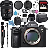 Sony Alpha a9 Mirrorless Digital Camera (Body) ILCE9/B + Sony FE 100mm f/2.8 STF GM OSS Lens SEL100F28GM + 64GB SDXC Card + Carrying Case + Memory Card Wallet + Deluxe Cleaning Kit Bundle