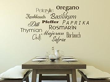Wandtattoo-bilder® Wandtattoo Sprüche Gewürze Nr 3 Küche Esszimmer ...