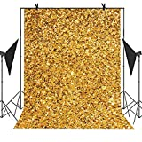 MEETS 5X7ft Trendy Style Backdrop Bright Yellow Picture Selfie Station Photographing YouTube Background LETS020