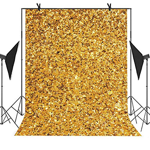 Back Station - MEETS 5X7ft Trendy Style Backdrop Bright Yellow Picture Selfie Station Photographing YouTube Background LETS020