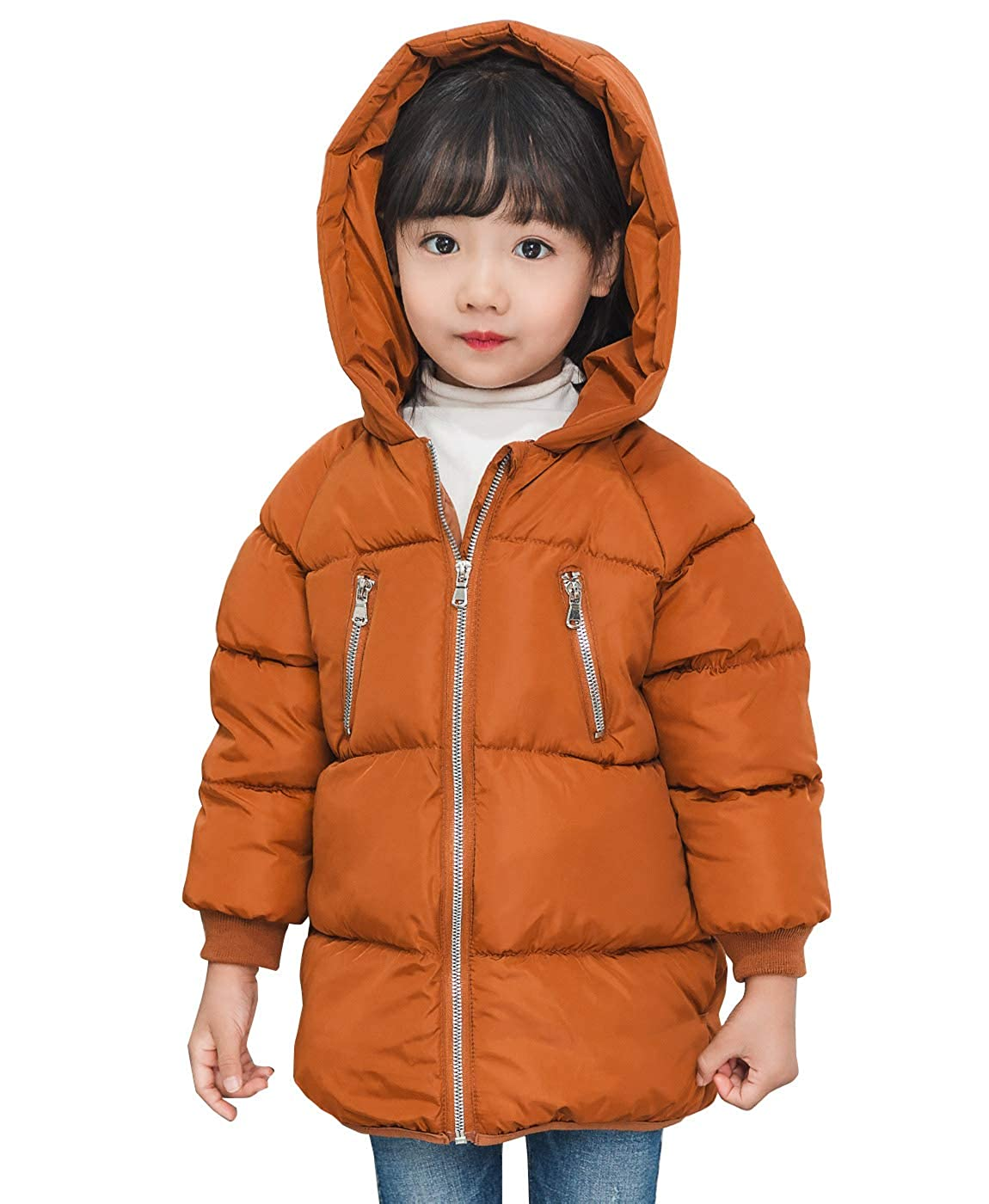 e447ca8e2 Happy Cherry Little Boys Girls Puffer Thick Snowsuit Outwear Hooded ...