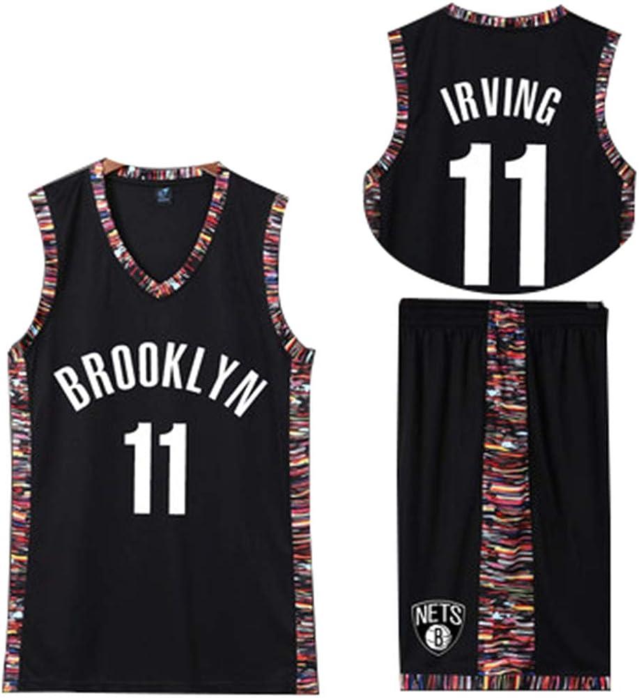 MYXUAA # 11 Kyrie Irving Basketball Trikot Boston Celtics Trikot zweiteiliges Basketball Performance Tank Top und Shorts Set Hip Hop Bekleidung