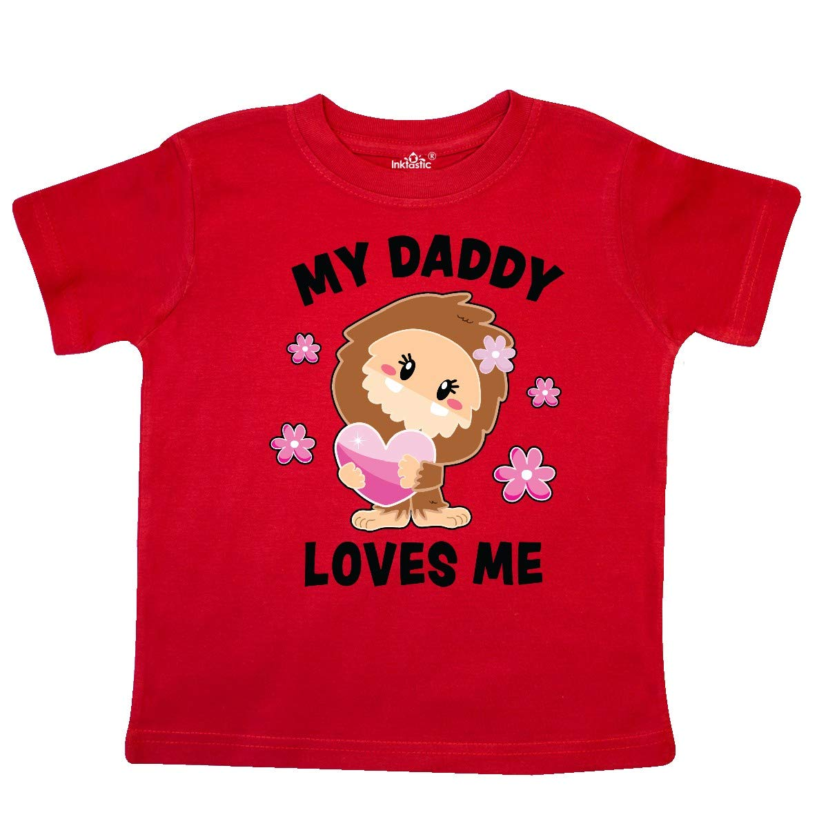inktastic My Daddy Loves Me with Bigfoot Toddler T-Shirt