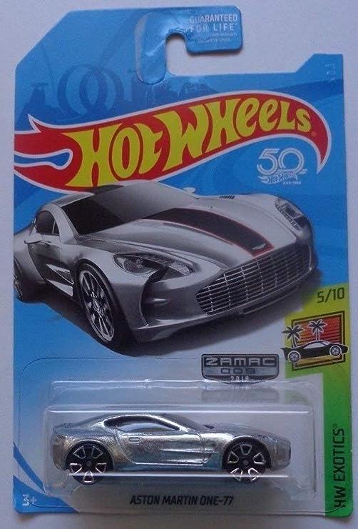 Hot Wheels 2018 50th Anniversary Hw Exotics Aston Martin One 77 Zamac Edition Amazon De Spielzeug