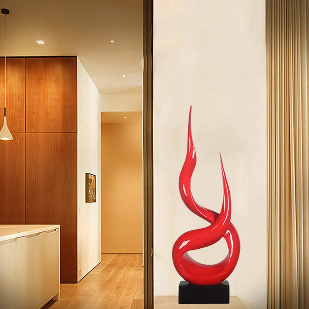 Flame Abstract Modeling Ornaments Sculpture Living Room Bedroom Entrance Hotel Cafe Elegant Decoration Home (Color : Red) by None (Image #3)