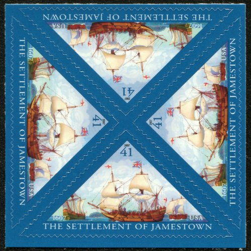 JAMESTOWN SETTLEMENT #4136 Block of 4 x 41¢ US Postage Stamps