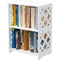 Rerii Small Bookcase, 2 Tier Bookcase for Small Spaces, 2 Shelf Bookshelf Kids, Book Storage Organizer Case Open Shelves…