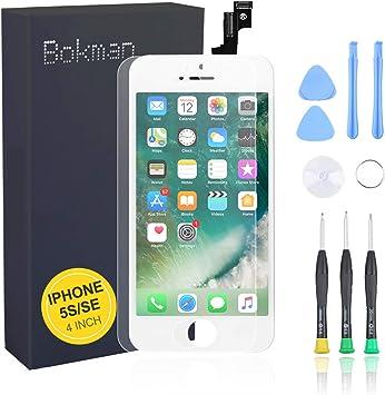 bokman LCD Pantalla para iPhone 5s/SE, Táctil LCD Reemplazo con ...
