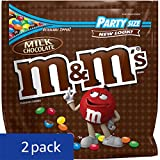 M&MS Milk Chocolate Candy Party Size 42-Ounce Bag (Pack of 2)
