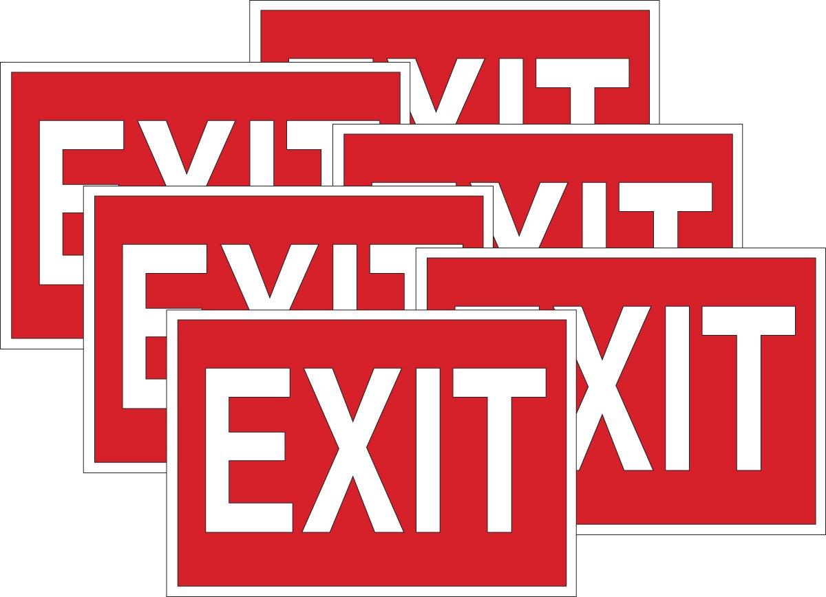 Brady 51552 Plastic Exit 10 X 14 0 Sign Legend