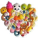 LUDILO Squishies Slow Rising Toys Random 20 Pcs Soft Squishys Kawaii Jumbo Medium Mini Squishys Simulation Food Squishy Charms Stress Relief Toys Party Favors for Boys Girls