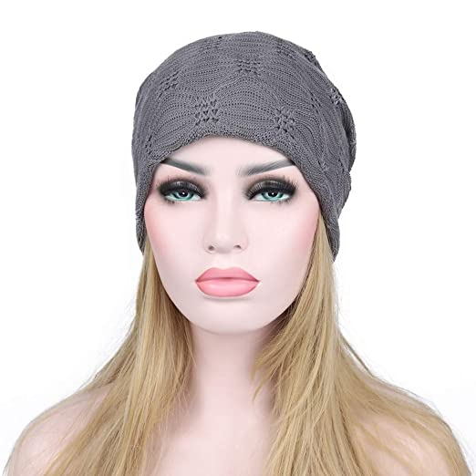 d5ba5785a8f4e3 Toaimy Autume Winter Hat Fashion Women Warm Winter Lace Beanie Head Cap  Ladies Outdoor Warm Hat at Amazon Women's Clothing store: