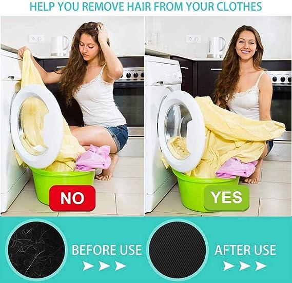 Depiladora de mascotas,Depiladora de mascotas de Bolas de lavander/ía de 2 piezas Pet Hair Remover para lavander/ía lavadora atrapador de pelo flotante Pet bola de pelo para ropa