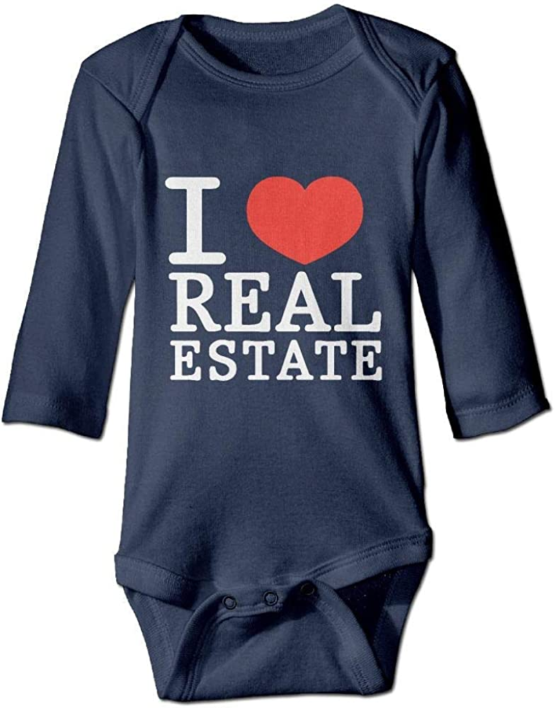 I Love Real Estate Baby Long Sleeves Bodysuit Jumpsuit Outfits
