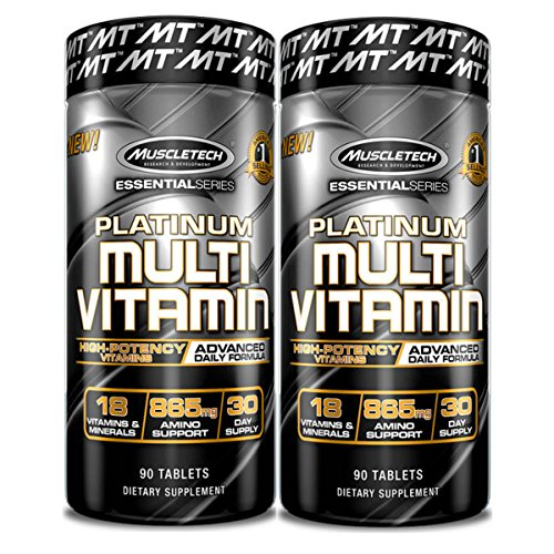 MuscleTech Platinum Multi Vitamin 90 Count (2 Pack) For Sale