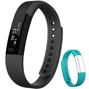 Rayfit Pulsera Actividad Inteligente Reloj Deportivo Fitness Tracker Monitor de Sueño Contador de Calorías Reloj Cuenta Pasos Ejercicio Salud ...