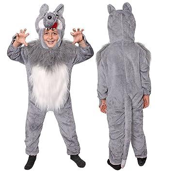 Ilovefancydress Kinder Wolf Unisex Marchen Kostume Verkleidung