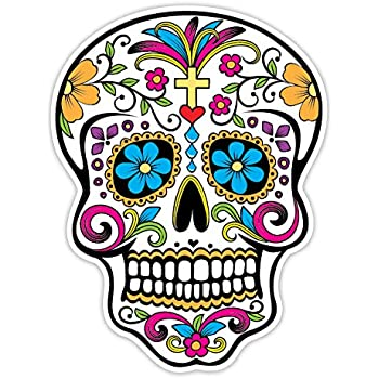 Osmdecals sugar skull sticker version 32 day of the dead vinyl wall home decor