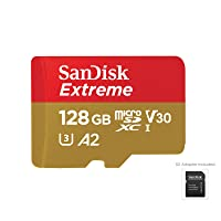 SanDisk 128GB Extreme microSDXC UHS-I Memory Card with Adapter - C10, U3, V30, 4K...