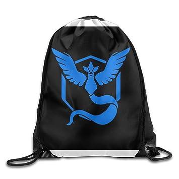 aalexxji1 Pokemon Go equipo Mystic Articuno cordón mochilas bolsas de saco, Blanco: Amazon.es: Deportes y aire libre