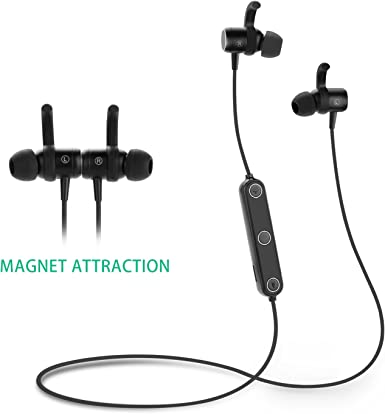 Amazon Com Jelly Comb Sport Bluetooth Headphones Sports Wireless Bt Sweatproof Earphones With Magnet Switch For Iphone 7 6 Samsung Earbuds With Mic Bluetooth Csr 4 1 Secure Ear Hooks Design Black Clothing