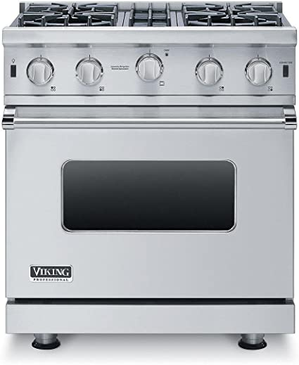 Primary Oven Capacity in Stainless Steel Viking VGIC53014BSS 5 Series 30 Inch Freestanding Gas Range with 4 cu ft