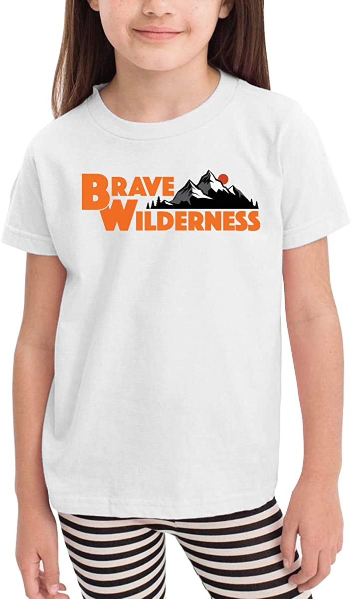 Onlybabycare Brave Blunt Wilderness White Cotton T Shirt Lightweight Breathable Solid Tee for Toddler Boys Girls Kids