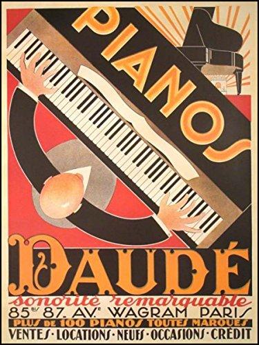 ([Piano] Daudé, André. (1897-1979): Pianos Daudé - FRAMED 1926 Poster)