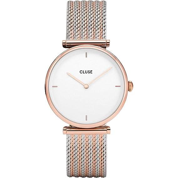 Cluse Reloj Analógico para Mujer de Cuarzo con Correa en Acero Inoxidable CL61003: Amazon.es: Relojes