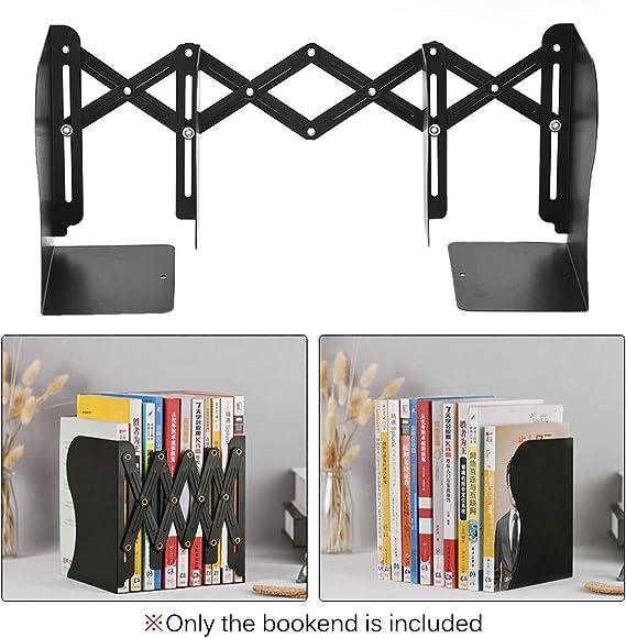 Aibecy Sujetalibros retráctiles Terminadores de libros de metal El ...