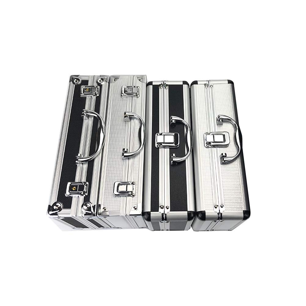 EVERRICH Aluminum Hard Case Briefcase Silver Toolbox Professional Carrying Case Aluminum Flight Cases Portable Equiment Tool Case with Lining Sponge