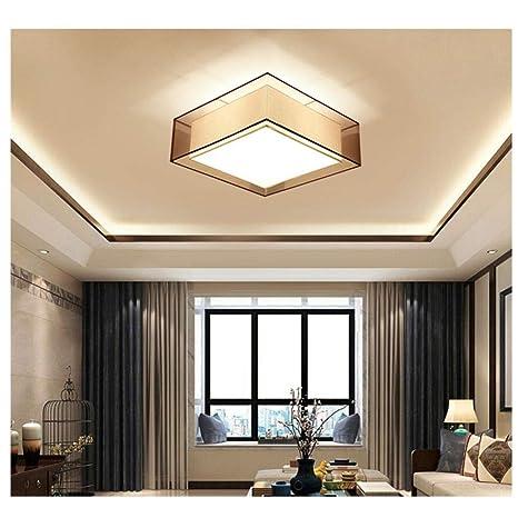 Luz de pasillo LED, lámpara de techo cuadrada de tela, 40/50 ...