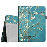 Fintie iPad 1 Folio Case - Slim Fit Vegan Leather Stand Cover with Stylus Holder for Apple iPad 1 1st Generation - Blossom