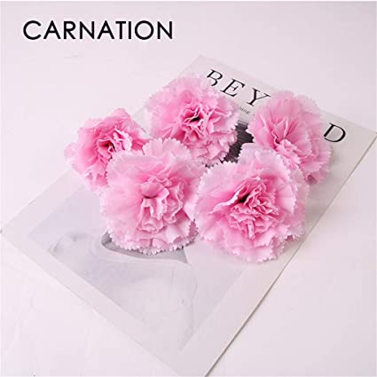 Koperras 6pcs Bouquet De Carnation Artificielles En Soie