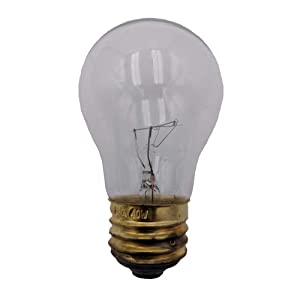 Supplying Demand Clear 40-Watt Standard Base A15 Appliance Light Bulb Fits Refrigerators & Ranges