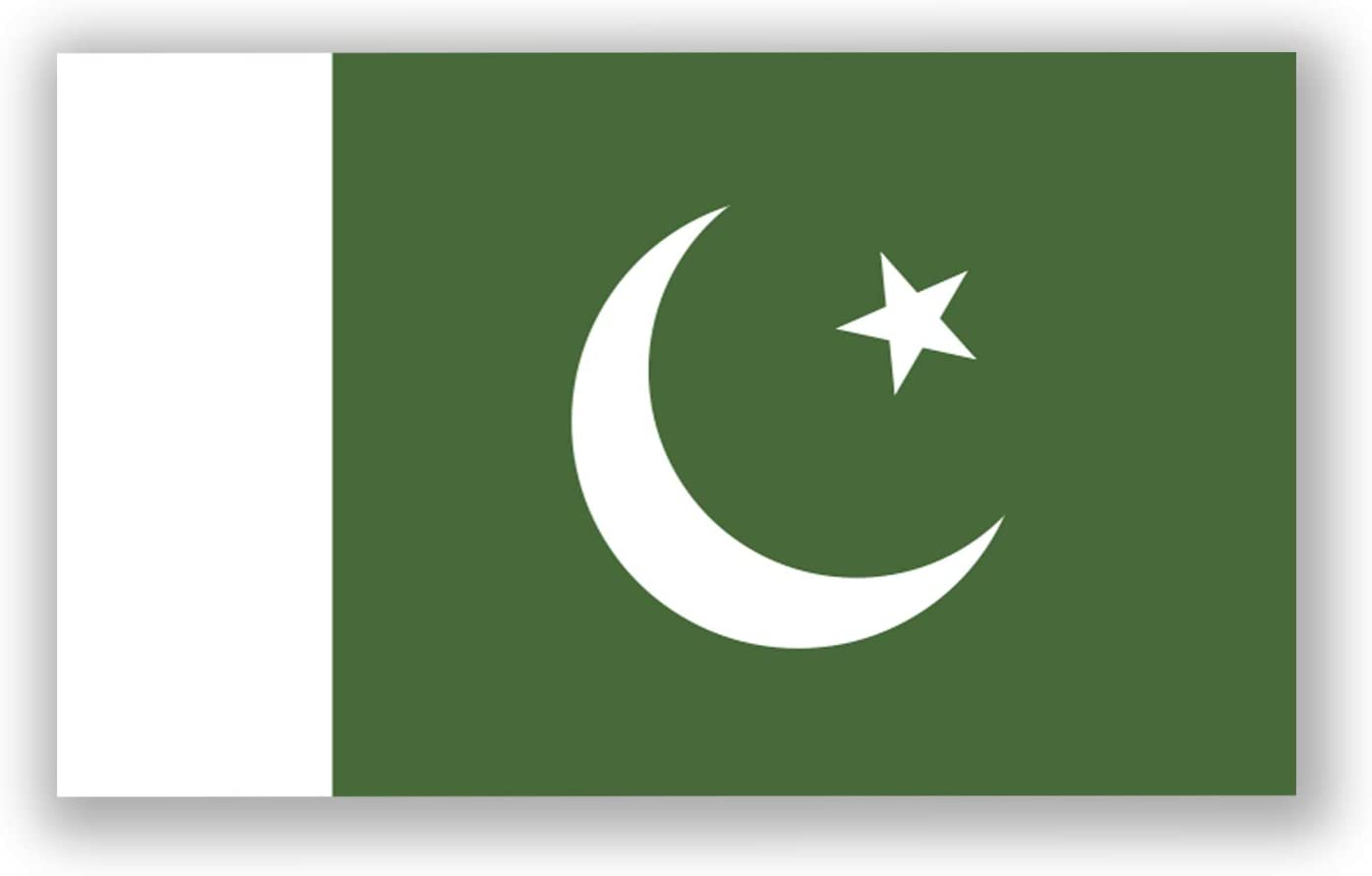 2-Pack Pakistan Flag Decal Sticker | 5-Inches by 3-Inches | Premium Quality Vinyl | PD503