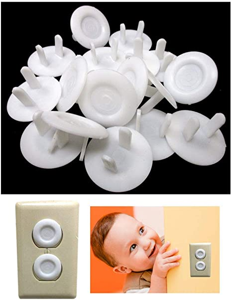 36 Piece Safety Electric Outlet Plug Protector Cover Child Proof Shock Guard New