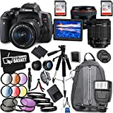 Canon EOS Rebel T6i DSLR Camera 18-55mm Lens Canon EF 50mm Lens Accessory Bundle
