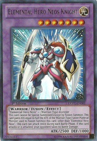 Yu-Gi-Oh! - Elemental Hero Neos Knight (EXVC-EN093) - Extreme Victory - 1st Edition - Ultra Rare