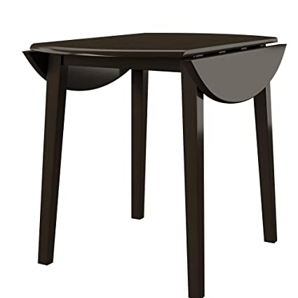 61a5a6567bb Amazon.com - Ashley Furniture Signature Design - Hammis Dining Room Table -  Drop Leaf Table - Dark Brown - Tables
