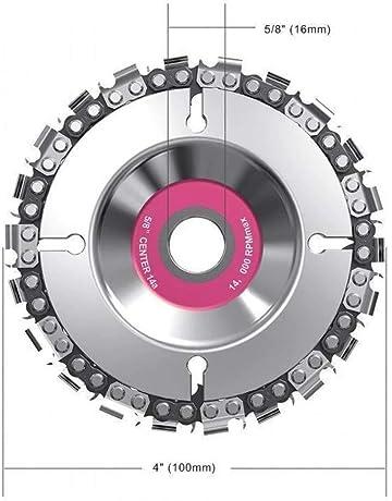 Stahl OVERMAL F/ächerscheiben 4 Zoll F/ür 100//115 mm 22 Z/ähne zum S/ägen in Holz f/ür Handkreiss/ägen Schleifscheiben Trennscheiben f/ür Holz