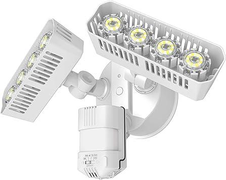 3600lm 5000K Daylight 36W Dusk to Dawn Waterproof Black 250W Incandescent Equivalent ETL Listed Floodlights Upgraded SANSI LED Security Motion Sensor Outdoor Lights