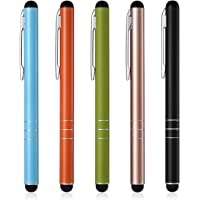 Poweradd 5-delige stylus touch-pen stylus voor iPhone 7 6s 6 5 4 4s, iPad, Samsung Galaxy en alle tablets, smartphones