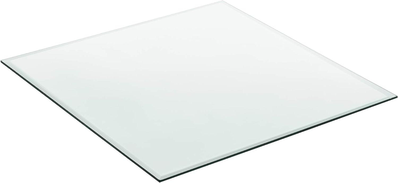 neu.haus Glasplatte /Ø40cm Rund Schwarz Glasscheibe Tischplatte ESG Glas Kaminplatte Kaminglas DIY Tisch