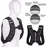 Weighted Vest for Men and Women - Evenly Distributed Weight Comfortable Vest for Maximum Performance with Water bottle holder 10 lb15 lbs 20-Pound