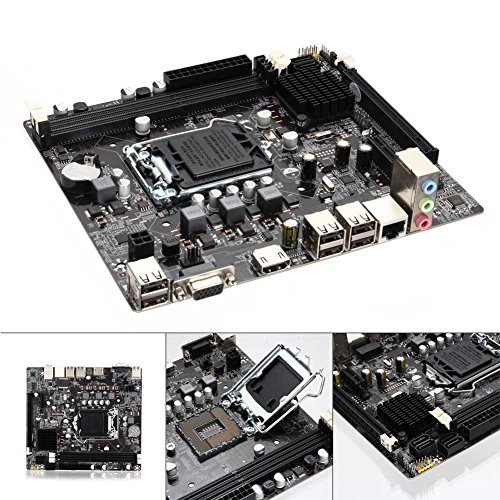 Zoomarlous Computer Motherboard for Intel H61 Socket LGA 1155 DDR3 Computer Motherboard PCIE Micro ATX Board Support Core i7