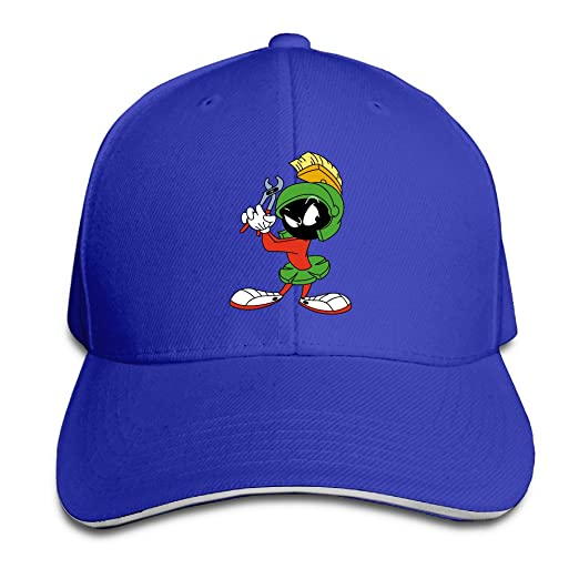 Amazon.com  Fitted Marvin The Martian Spirit Mars Rover Bugs Bunny Baseball  Caps RoyalBlue Sandwich Peaked Cap (6311343451935)  Books 729af5fef1