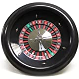 "18"" Premium Bakelite Roulette Wheel with 2 Roulette Balls by Brybelly"