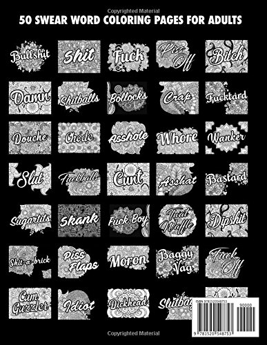 BULLSHIT 50 Swear Words To Color Your Anger Away Release Stress Relief Curse Coloring Book For Adults Randy Johnson 9781520548753